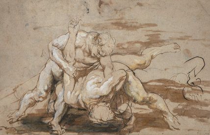 Two Men Wrestling, by Rubens