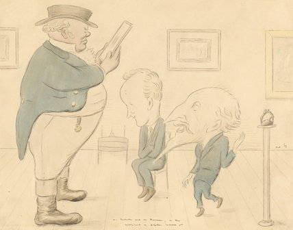 Mr Ricketts & Mr Shannon, by Max Beerbohm