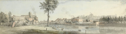 A View of Windsor Castle from the Brocas, by Paul Sandby