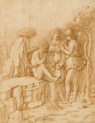 Three Musicians in a Landscape, by Francesco Francia