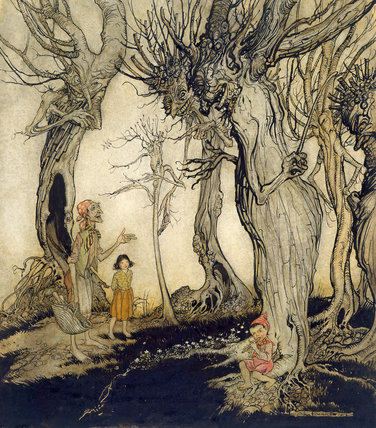 The Trees and the Axe, by Arthur Rackham
