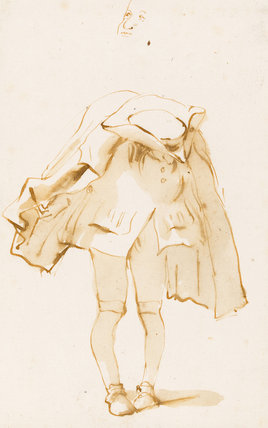 Caricature of a Hunch-Back with Knock-Knees, by Tiepolo