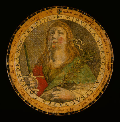 Roundel with the Persian Sibyl, after Crispijn de Passe I