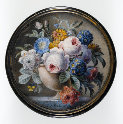 Tortoise-Shell Box with a Miniature of Flowers, by Redoute