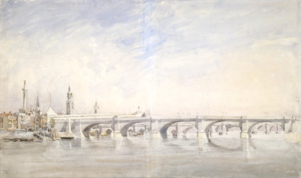 The Opening of New London Bridge, by David Cox the elder
