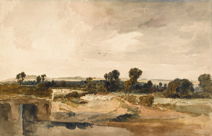 A view in Lincolnshire, by Peter De Wint