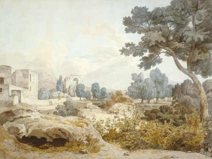 View of Vesuvius from Above Portici, by William Pars