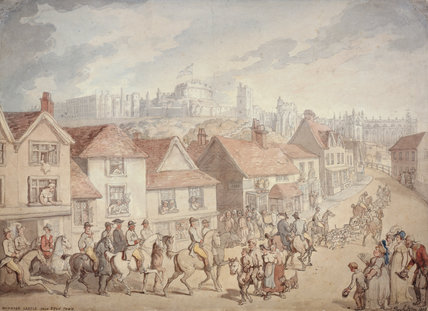 Windsor Castle from Eton Town, by Thomas Rowlandson
