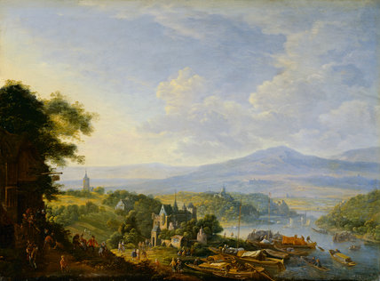 View on the Rhine, by Jan Griffier I