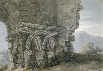 Saxon Capitals, Dunwich, by Thomas Hearne