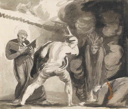 Margery Jourdain and Bolingbroke Conjuring up the Fiend, by Romney