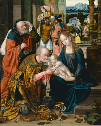 Adoration of the Kings, by Joos van Cleve (school of)