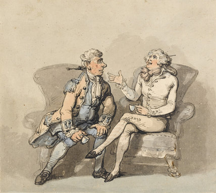 French Valet and English Lackey, by Thomas Rowlandson