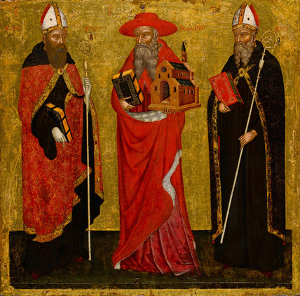 St Augustine, St Jerome and St Benedict, Venetian School