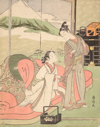 Lover Taking Leave of a Courtesan, by Suzuki Harunobu