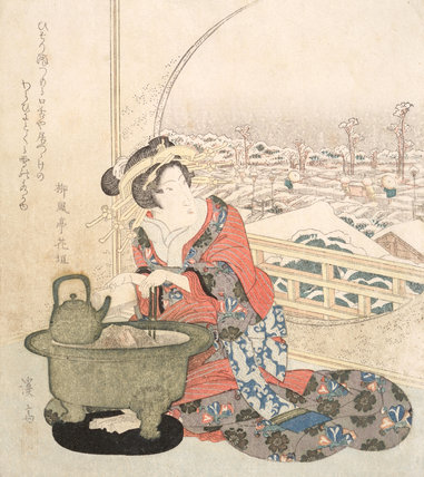 Overnight Snow in Yoshiwara, by Keisai Eisen