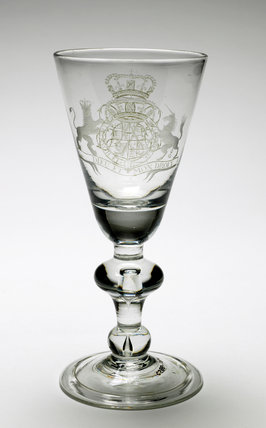 Glass Drinking Goblet, English