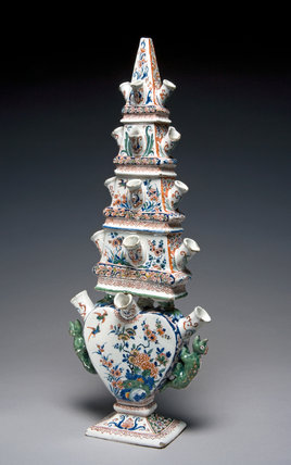 Flower Vase in the Form of an Obelisk, Delftware