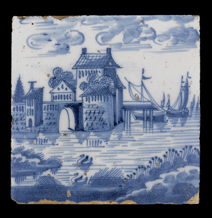 Tin-Glazed Earthenware Tile, Netherlandish