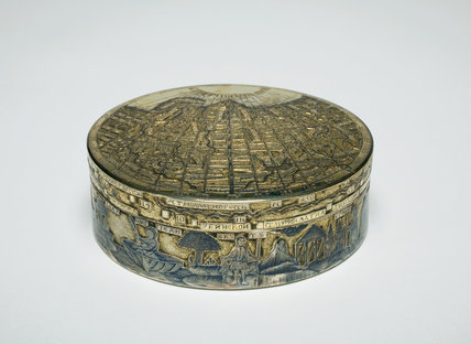 Silver Box, with a Map of Northern Russian