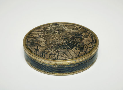 Silver Box with a Map of St Petersburg, by Ivan Zhilin