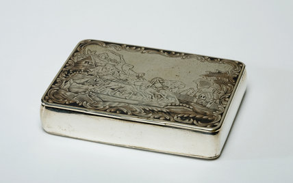 Silver Box, Decorated with Two Scenes of Troikas, Russian