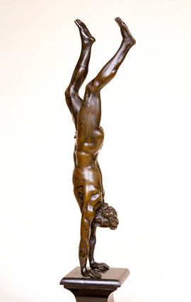 Acrobat Performing a Handstand, by Barthelemy Prieur