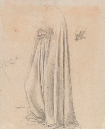 Study of draped figure, by Degas