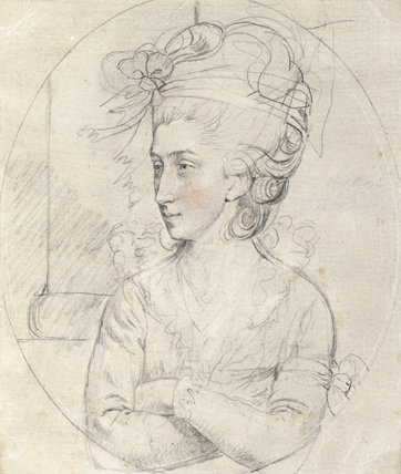 Mrs Pervis, by John Downman
