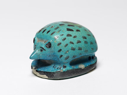 Egyptian faience hedgehog, from Beni Hasan
