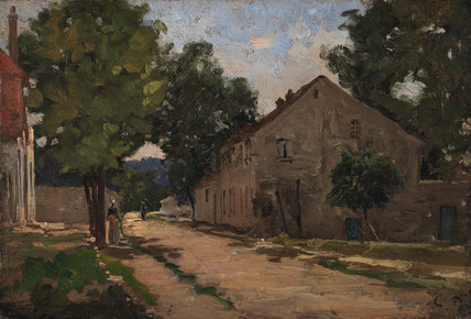 Route de Port-Marly, by Pissarro