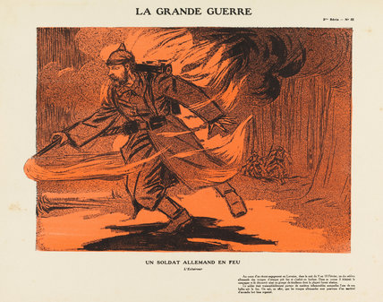 A German soldier on fire, La Grande Guerre