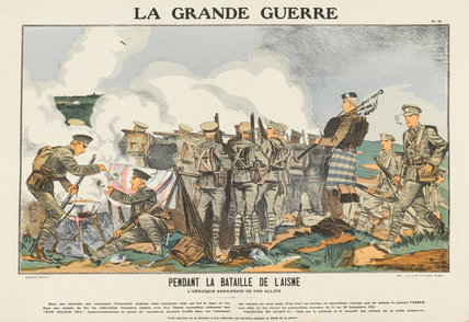 During the battle of Aisne, La Grande Guerre