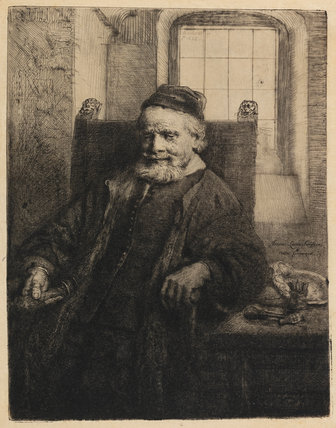 Jan Lutma, goldsmith, by Rembrandt