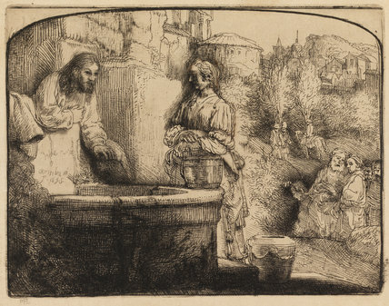 Christ and the Woman of Samaria, by Rembrandt