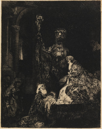 The Presentation in the Temple, by Rembrandt