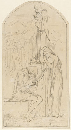 Illustration to Coleridge's poem 'Genevieve'