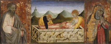 The Entombment of the Virgin, by Giovanni di Paolo