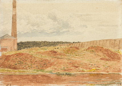 Study of a brick kiln, Kensington Gravel Pit, by Linnell
