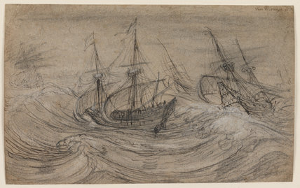Shipping in a rough sea, by Cornelis Claesz. van Wieringen