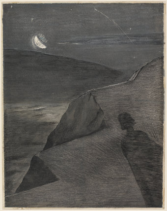 The cliff to the north, by Paul Nash