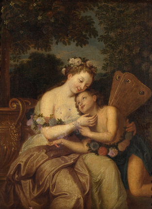Zephyr and Flora, after Antoine Coypel
