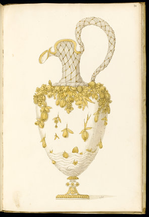 Ewer, for the Tavola longa, designs for silverware