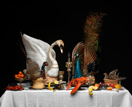 Recreation of a Baroque feasting table