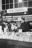 Customers in the Book Department at Selfridge's department store in London during 1942.