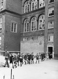 Anti-gas drill at Old Woolwich Road School in Greenwich, London during 1941.