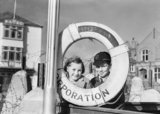 Maureen and Maurice Foley at Bideford harbour, North Devon in 1941 after their evacuation from London.