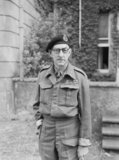 Major General Sir Percy Hobart, 16 June 1942. In March 1943 he was made responsible for the development of specialised armoured vehicles, known as 'funnies', to spearhead the D-Day assault.
