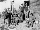 Civilians found in Brancourt on its capture by the American 30th Division on 8 October 1918.
