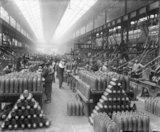 The interior of a shell factory operated by Sir Robert Hadfield Ltd in Sheffield during the First World War.